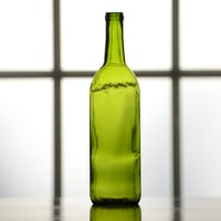 750 mL Green Bordeaux Wine Bottle