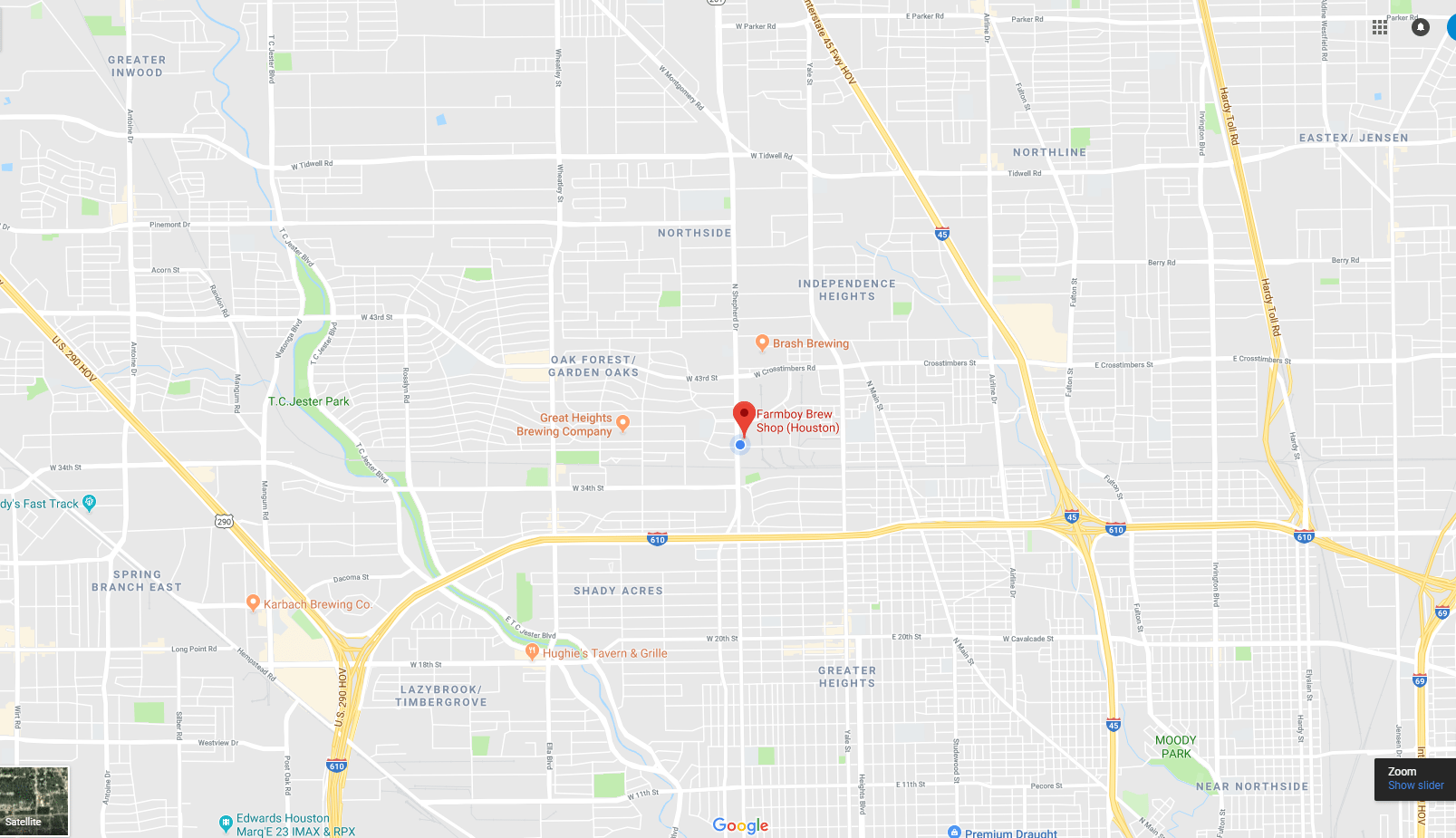Map of Houston Location